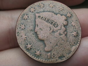 1827 MATRON HEAD LARGE CENT PENNY