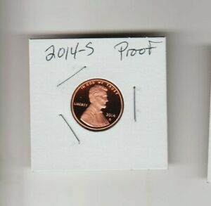 2014 S LINCOLN CENT PENNY PROOF FROSTY COIN SHIELD HONEST ABE C