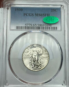 1930 P PCGS & CAC MS65FH STANDING LIBERTY SILVER QUARTER