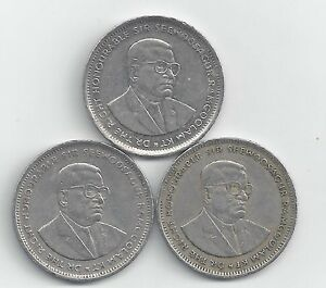 3 DIFFERENT 1 RUPEE COINS FROM MAURITIUS  1991 1994 & 1997