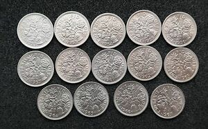 SIXPENCES   1953 TO 1970 CHOOSE YOUR DATE  BRIGHT UNCIRCULATED OR PROOF