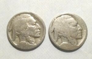 2 BUFFALO NICKELS NO DATE PHILADELPHIA MINT CIRCULATED CONDITION