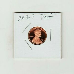 2013 S LINCOLN CENT PENNY PROOF FROSTY COIN SHIELD HONEST ABE C