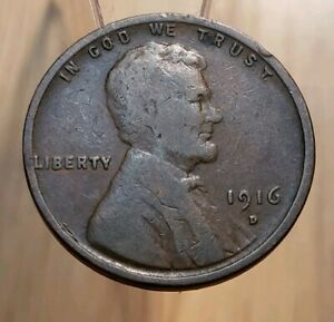 1916 D LINCOLN WHEAT CENT  BETTER DATE