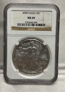 2009 AMERICAN SILVER EAGLE COIN NGC MS69 $1 DOLLAR 1 OZ MINT