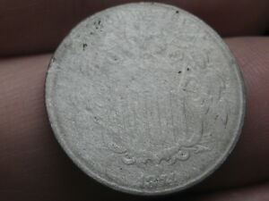 1874 SHIELD NICKEL 5 CENT PIECE  LOWER MINTAGE DATE