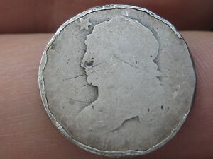 1809 1837 90  SILVER CAPPED BUST DIME  SLIGHTLY ROLLED RIMS