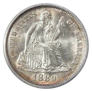 Click now to see the BUY IT NOW Price! 1889 DBL DIE REV 10C ICG MS 62 FS 801   NEAT SEATED LIBERTY DIME VARIETY