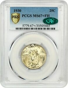 Click now to see the BUY IT NOW Price! 1930 25C PCGS/CAC MS67  FH   REGISTRY QUALITY    STANDING LIBERTY QUARTER