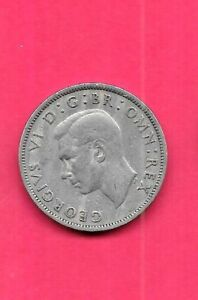 GREAT BRITAIN GB UK KM865 1947 VF VERY FINE NICE OLD VINTAGE FLORIN COIN
