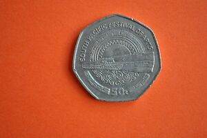 1980 PAPUA NEW GUINEA 50T COIN SOUTH PACIFIC FESTIVAL OF ARTS