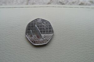 LONDON OLYMPIC 50P COIN SAILING