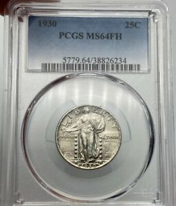 1930 P PCGS MS64FH STANDING LIBERTY QUARTER AMAZING DETAIL