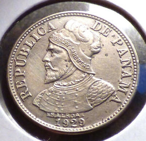 PANAMA 2 1/2 CENTESIMOS 1929 XF COIN POSSIBLE OLD CLEANING 1 YEAR TYPE KM 8