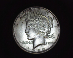 HS&C: 1922 D PEACE DOLLAR UNC   US COIN