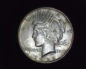 HS&C: 1922 D PEACE DOLLAR BU    US COIN