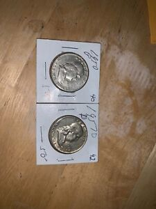TWO FRANKLING HALF DOLLARS 1950 AND 1957D. IF YOU WANT A SPECIFIC ONE SEND OFFER