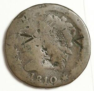 1810 LARGE CENT.  CIRCULATED.  146509