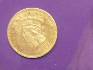 1856 $1.00 GOLD TYPE 3 COIN
