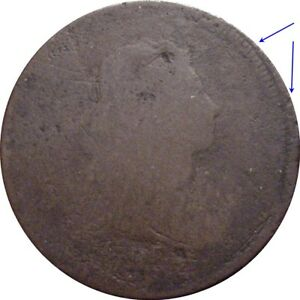 1798 DRAPED BUST CENT  DOUBLE STRUCK