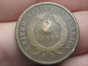 1864 1872 TWO 2 CENT PIECE  CIVIL WAR TYPE COIN
