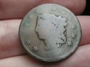 1824 OR 1834 MATRON HEAD LARGE CENT PENNY  ROTATED REVERSE ERROR