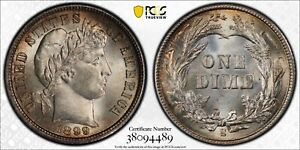 Click now to see the BUY IT NOW Price! 1899 S BARBER DIME PCGS MS65    10C  38094489  PLUS GRADED