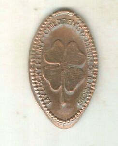 MY LUCKY PENNY CHILDREN'S MUSEUM ILLINOIS FOUR LEAF CLOVER ELONGATED COIN TOKEN