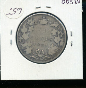 1871 CANADA 50 CENTS G  AB62