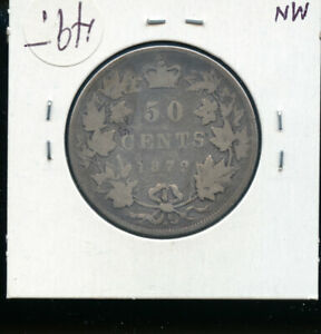 1872 H CANADA 50 CENTS G  AB63