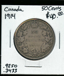 1914 CANADA 50 CENTS VG AB76