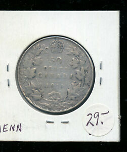 1914 CANADA 50 CENTS VG AB77