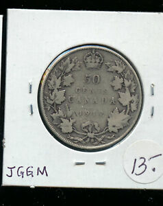 1917 CANADA 50 CENTS VG AB80