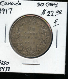1917 CANADA 50 CENTS F AB81
