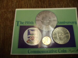 1983 FALKLAND ISLANDS 150TH ANNIVERSARY SHIP COIN