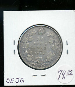 1934 CANADA 50 CENTS F AB88