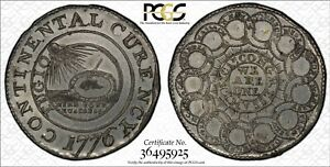 Click now to see the BUY IT NOW Price! 1776 CURRENCY PEWTER $1 PCGS GENUINE EDGE DAMAGED UNC DETAIL