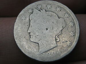 1894 LIBERTY HEAD V NICKEL  LOWER MINTAGE DATE GOOD DETAILS