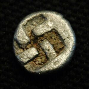 Click now to see the BUY IT NOW Price! AR TRIOBOL ABYDOS TROAS EAGLE RV QUADRIPARTITE INCUSE 0.93 GR 9 10MM 5TH CENT BC