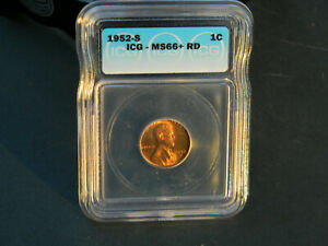 1952 S LINCOLN WHEAT CENT IGC SLAB SEALED MS 66   RD   603