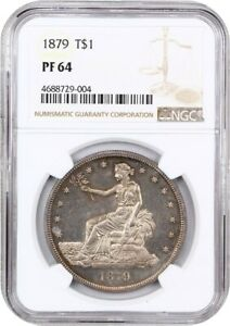 1879 TRADE$ NGC PR 64   DESIRABLE PROOF TRADE DOLLAR   US TRADE DOLLAR