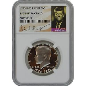 Click now to see the BUY IT NOW Price! 1776 1976 S KENNEDY PROOF SILVER HALF DOLLAR COIN NGC PF70 ULTRA CAMEO POP 2