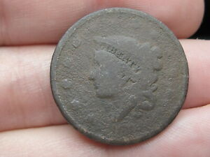 1835 1839 MATRON HEAD MODIFIED LARGE CENT PENNY METAL DETECTOR FIND?