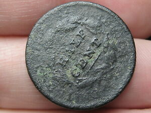 1809 CAPPED BUST HALF CENT  ROTATED REVERSE MINT ERROR