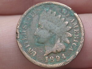 1894 INDIAN HEAD CENT PENNY LOWER MINTAGE DATE