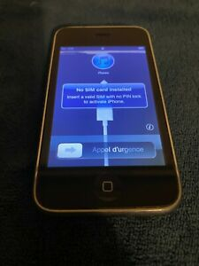 APPLE IPHONE 3G  IOS 4.2.1  8GB   BLACK  AT&T  A1241  GSM