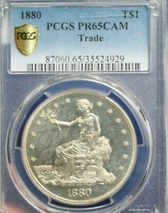 1880 TRADE DOLLAR   PCGS PF65CAMEO