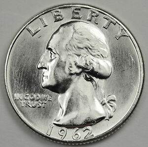 1962 P WASHINGTON QUARTER.  NICE B.U.  86813    INV. A