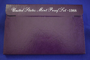 1988 S  U.S.PROOF SET. GENUINE. COMPLETE AND ORIGINAL AS ISSUED BY US MINT.