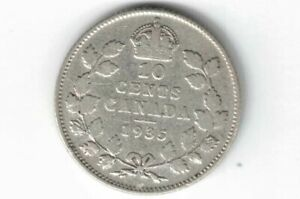 CANADA 1935 TEN CENTS DIME KING GEORGE V .800 SILVER COIN CANADIAN